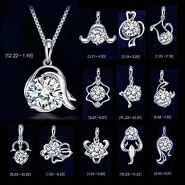 Wholesale twelve south wholesale - New 925 sterling silver necklace pendant twelve constellations pendants zodiac signs pendant, excluding chain,High quality free shipping