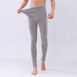 Wholesale Plus Size Winter Print Leggings - New Arrival Autumn and Winter Style Men Pants plus thick velvet Plus Size 7XL man long Johns men warm leggings
