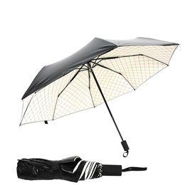 Argentina New Girl Bloqueador solar Recubrimiento negro Paraguas de alta calidad Chequeos de moda Blanco Paraguas todo el tiempo Paraguas a prueba de rayos ultravioleta cheap solar radio wholesale Suministro