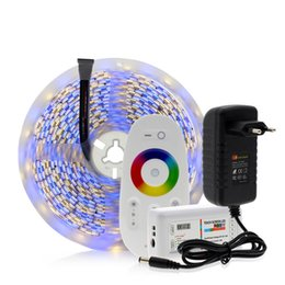 5050 LED Şerit RGB / RGBW / RGBWW 5 M 300 LEDs Neon Bant Işık + 2.4G Uzaktan Kumanda + DC 12 V 3A Güç Adaptörü cheap 12v led strip controller remote nereden 12v led şerit kontrol uzak tedarikçiler