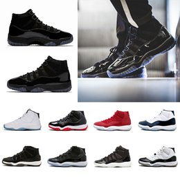 Wholesale gym women - Newest Cap and Gown 11 Prom Night 11s XI Gym Red Bred Concord PRM Heiress men women Basketball Shoes midnight navy sports Sneaker