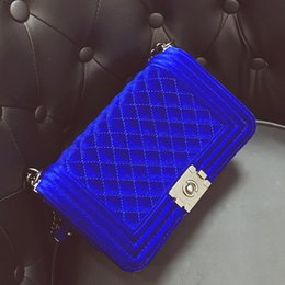 metallic clutch handbags Coupons - Diamond Embroidery Women's Bag Velvet Luxury Handbags Women Bags Ladies Party Purse And Clutches Velour Crossbody Shoulder Bags