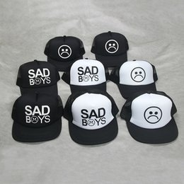 afbeb2ee6aeb9 Fashion SAD BOYS Print Trucker Cap Men Baseball Hat Bone gorras Women sun  hat sadboy Black Flat Bill trucker hat