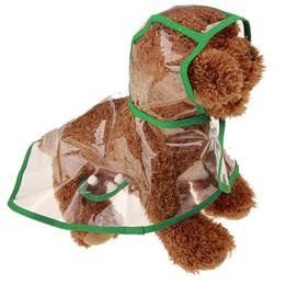 Primavera moda cão on-line-Moda simples cão transparente à prova de chuva primavera e verão utilizável pequeno gato de estimação capa de chuva impermeável à prova de água PVC materrial 9cs Y