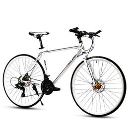 Bicicletas de corrida de alumínio on-line-Nova Liga de Alumínio Quadro 700 * 23c SHIMAN0 30 Velocidade Da Bicicleta Da Estrada Esportes Ao Ar Livre Ciclismo Corrida De Freio A Disco Bicicleta