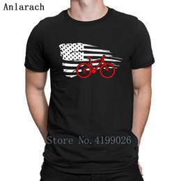 Banderas americanas originales online-Bikini de montaña American Patriotic T-Shirt Kawaii O-Neck Hiphop Tops T-shirt de manga corta Original transpirable