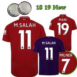 Wholesale green spandex shirt - 2018 2019 M. SALAH CHAMBERLAIN Soccer Jersey 18 19 FIRMINO VIRGIL HENDERSON STURRIDGE LIVERPOOLING SALAH MANE jerseys uniform football SHIRT