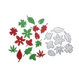 Canada Feuille combinaison artisanat métal carte de coupe papier bricolage décoratif gaufrage coupe meurt pour scrapbooking album photo décoration Offre