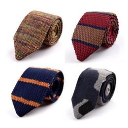 Yeni Moda Erkek Örme Boyun Kravatlar Erkekler Örgü Kravat Slim Tasarımcı Erkekler Için Dar Dar Skinny Kravat Kravat Örme Ok Kravat 15 Renk supplier knitted tie nereden örme kravat tedarikçiler