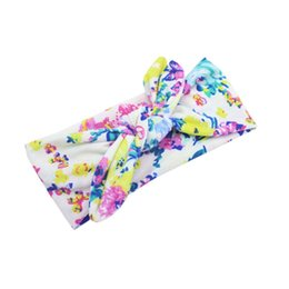 Wholesale Hair Wrap Jewelry - Baby Girls Headwear Head Wraps Floral Printing Turban Headband Newborn Infants Hair Accessories