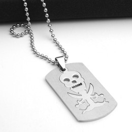 Collar de anime de una pieza online-10 unids Juego de Acero Inoxidable Anime Skull Skeleton collar colgante de One Piece Pirata Logo Collar de Doble Capa Desmontable Skull Taro Necklace