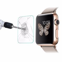 Orologi reali online-Proteggi schermo protettivo in vetro temperato 9H Premium Explosion per Apple Watch iWatch Series 1 2 38mm 42mm Smart Sport