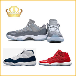 Wholesale Navy Cool - 2018 New Style 11 Gym Red Low Cool Grey Navy Win Like 82 Bred Mens Basketball Shoes F,11s Space Jam Men Sports Shoes Womens Trainers Sneaker