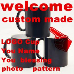 Fare tazze online-Nome della benedizione foto Regalo di Natale Tazze personalizzate Tazze che cambiano colore Magia sensibile al calore Tazza da caffè Tazza LOGO in ceramica