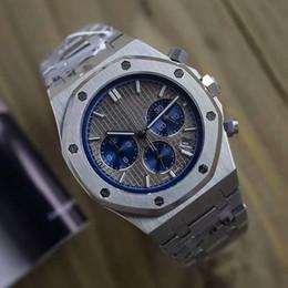 Relógio de quartzo boutique on-line-marca de moda relógio suíço Marca 26331ST.OO.1220ST.01 Multifuncional Movimento Quartz 44 milímetros Mineral vidro temperado Espelho dos homens de luxo