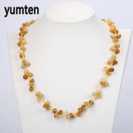 2019 collana di perle di topaz Yumten Topaz intrecciato collane di pietra naturale di cristallo Ladies Bead Jewelry Accessori accessori per San Valentino all'ingrosso 5 PCS collana di perle di topaz economici