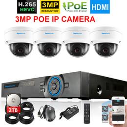 Kit de surveillance vidéo Onvif POE 4CH de système de vidéosurveillance anti-vandalisme pour le système de vidéosurveillance H.265 CCTV NVR système 4CH POE NVR 4pcs 3MP IP66 ? partir de fabricateur