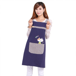 Wholesale Overall Work - Hot Sale Cute Cat Fashion Princess Tea Shop Kindergarten Apron Woman Lady Work Wear Cotton Overall Aprons Logo
