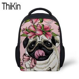 THIKIN Cute Girls Pug Dog Printing School Bags for Kids Kindergarten  Backpacks Baby Mini Schoolbag Backpack Children Bookbag 6694df67090c6