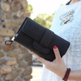 borse portafogli piacevoli Sconti Portafoglio di cuoio solido solido delle ragazze di modo delle ragazze di modo del raccoglitore della borsa della borsa della frizione della borsa della borsa delle donne del bifold di nuova signora