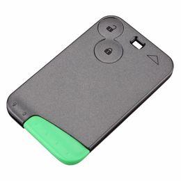 Tarjeta de clave de renault shell online-2 botones de tarjeta inteligente para Renault Laguna Espace Car Key Cubierta de caja en blanco con hoja