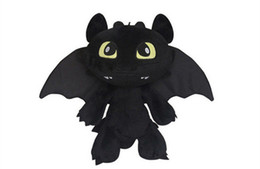 Wholesale Toothless Dragon Soft Toy - Height 30CM Children Plush Toys How to Train Your Dragon Plush Toothless Night Fury Soft Toy gift New DDF