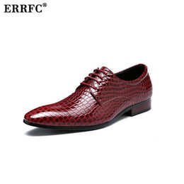 Wholesale Pythons Snakes - ERRFC Fashion Red Leisure Leather Shoes Trending Lace Up Python Snake Pattern Wedding Shoes For Man Plus Size 13 14 Blue Black