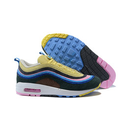 Wholesale Blue Hybrid - WITH BOX 2018 97 1 Sean Wotherspoon Hybrid Mens Designer Sports Running Shoes for Men Sneakers Luxury Brand Casual Trainers