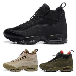 Wholesale Brown Seals - Air 95 20th Anniversary MID Shoe,2016 new Air 95 Sneakerboot,Army Boots Men's Autumn Winter ankle,Sealed-zip Training Retro Sneakers shoes