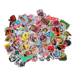 Wholesale moto decals - 300pcs Mix Style Funny Cartoon Auto Stickers FOR Decal Fridge Doodle Snowboard Lage Decor Jdm Brand Car Bike Moto Toys