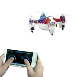Wholesale Helicopter Toys For Kids - BT Mini RC Drone 4CH 6-Axis Gyro APP Controller LED Bluetooth RC Quadcopter Drone RTF Remote Radio Control Drones Helicopter Toys for Kids