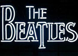 enseigne au néon des beatles Promotion Personnalisé Nouveau The Beatles Glass Enseigne au néon Lumière Beer Bar Sign Envoyer photo requise 19x15