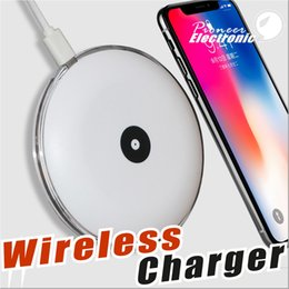 Wholesale Wireless Ufo - UFO Fast wireless charger charging Pad With Led Light With Cable For S7 Edge S8 Plus note8 Iphone X 8 plus With Retail Box