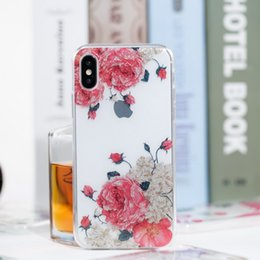 Wholesale Iphone Case Shimmering - New Powder Transparent Soft TPU IMD Shimmering Skin for iphone X 7 6 Mobile Phone Shell Case for Samsung S8 plus
