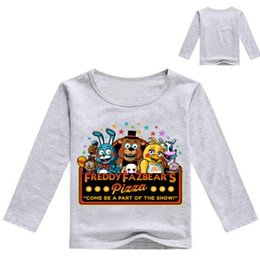 Noches freddy s camiseta online-Niños Baby Boy Girl Clothes T Shirt Niños pequeños de manga larga Tshirts cinco noches en freddy's Cartoon Cotton Children Tops