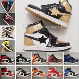 Wholesale Top Low Cut Basketball Shoes - 1 OG top 3 Banned Bred Gym Red Chicago Royal Blue Mid hare mens basketball shoes sneakers Shattered Backboard sports designer trainers shoes