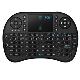 computadoras portátiles de google Rebajas 2.4G Rii Mini teclado sin hilos i8 para PC Pad Google Andriod Smart TV Box ordenador portátil PS3 Negro Qwerty con el Touchpad Teclado Gaming