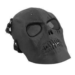 Capacete de crânio completo on-line-3 Cores Crânio Máscara de Esqueleto Máscara de Ciclismo Capacetes Proteção Contra o Rosto Cheio Com Olho Escudo atacado