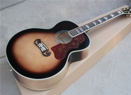 Guitarra acústica faz on-line-Top quality KSG personalizado guitarra acústica elétrica chinesa fez jumbo 43 polegadas acústico guitarra luz sunburst acústico frete grátis