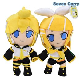"Wholesale Miku Vocaloid Plush - 12"" Hatsune Miku Twins VOCALOID family Loid Japan 30cm Kagamine Plush Doll Toy With Tag Baby Toys CS1CB"