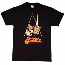 Casual impreso tamaño de la camiseta S-2Xl O-cuello diseño manga corta para hombre Clockwork Orange Movie Poster camiseta de los hombres desde fabricantes
