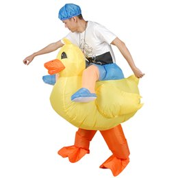 Wholesale bull costumes - ride on the bull cowboy yellow duck horse ostrich blue dinosaur yellow dog red dragon carry me fancy dress suit adult inflatable costume