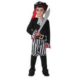 Wholesale White Pirate Costume - halloween mummy costume Halloween Costume for Boy Boys Kids Children Pirate Costumes Fantasia Infantil Cosplay Clothing