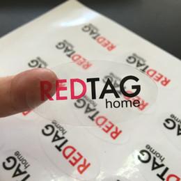pequeñas pegatinas para el paquete Rebajas Personalizado oval negro y rojo claro transparente PP BOPP adhesivo de vinilo etiqueta engomada de la publicidad autoadhesiva de la compañía