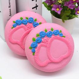 Brinquedo para o amor on-line-Atacado 12 CM Jumbo Squishy Bolo Pão Amor Coração Rose Flores Lento Rising Toy Presente Fábrica atacado