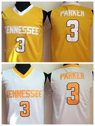 Fãs amarelos on-line-Tennessee Voluntários Basquete Jerseys Faculdade 3 Candace Parker Jersey Homens Cor Branca Amarelo Para Os Fãs de Desporto Universidade Frete Grátis