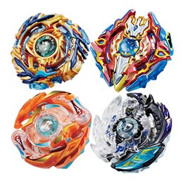 Wholesale New Year Boxes - Beyblade New Spinning Top Beyblade 3056 B48 B66 With Launcher And Original Box Metal Plastic Fusion 4D Gift Toys For Children