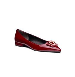женская кожаная форма Скидка Женщины низкий каблук скольжения на обувь лакированная кожа верхний материал формальная обувь Повседневная обувь 2018 МОДА СТИЛЬ