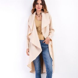 b889741da04 Autumn Winter Fashion Women s Trench Coat Long Outerwear Loose Clothes for  Lady Good Quality Solid Color Casual Coats