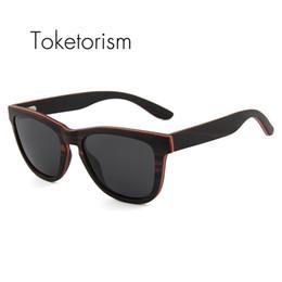 e8e4e8dce2531 Toketorism homens óculos de sol de madeira do vintage polarizada handmade  skate zonnebril de madeira original dames 2503